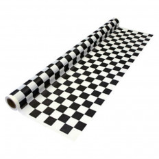 Shiny Black and White Checkered Car Wrap decorative vynil film