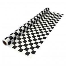 Folha adesiva xadrez em Vinil preto e branco brilhante de alta