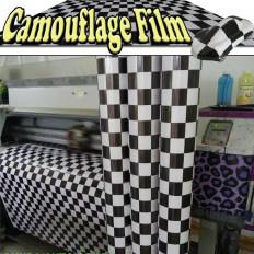 Pellicola adesiva con bandiera a scacchi bianco/nero per car