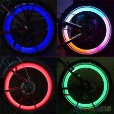 2 Bicos De Válvula Led multicolor paras rodas de bicicleta