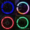 2 Luces Led multicolor para Válvula de Rueda de Bicicleta en 4 colores