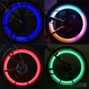 Radabdeckung Ventil Kappen 2 Multicolor LED mit UNIVERSAL Batterie Auto Fahrrad Motorrad