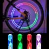 2 Tappi Copri Valvola Ruota LED Blu con Batterie UNIVERSALE Bici Auto Moto