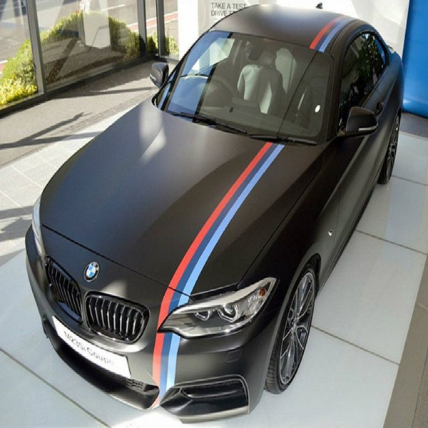 drapeau adh sif brillant bmw s rie m sport de course pour voiture corps 15cm. Black Bedroom Furniture Sets. Home Design Ideas