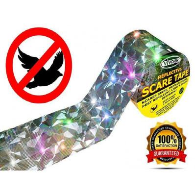 Nastro iridescente riflettente con lampi che spaventano uccelli e altri animali 110 metri