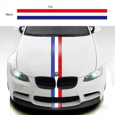 French flag band for BMW, Mercedes and Audi - 15cm Shopping