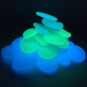 Камни устойчивой структуры, которые светятся в темноте фосфоресцирующих стекол профессиональных дорожек продукции для ступеней