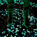 Pietre piatte ecosostenibili che si illuminano al buio in vetro fosforescenti