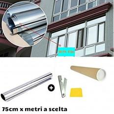 Lámina de espejo plateada para protección solar
