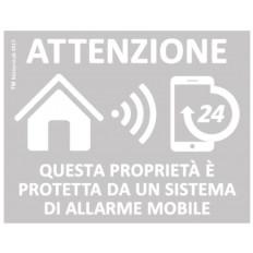 4 X Alarm Aufkleber GPS für mobile Alarmanlage für innere
