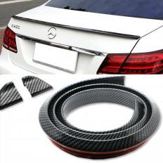Spoiler Universale adesivo in fibra di carbonio nera modellabile per posteriore auto