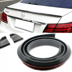 Universal Rear Spoiler Rubber Skirt Protector (Carbon fibre