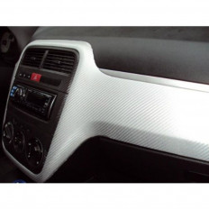 4D White Carbon Fibre Decorative Wrap Vinyl Film by ORACLE Shop