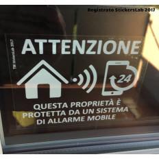 4 Adesivi allarme GPS antifurto proprietà privata con sistema