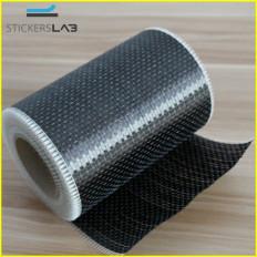 Rotolo in tessuto in vera fibra di carbonio 200 g/m² 12K UD PLAIN unidirezionale da 20cm