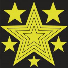 9 estrellas adhesivas fotoluminiscentes que brillan en la