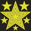 Phosphorescent luminescents étoiles autocollantes s'allume dans l'obscurité 3M ™ matériau NON-TOXIQUE
