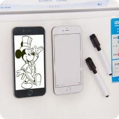 Pizarra Blanca Magnética en forma de Iphone 6 con boligrafo y