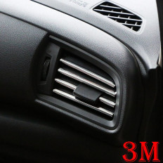 Car air-conditioning vent chromed protective tape - 3mt Shop