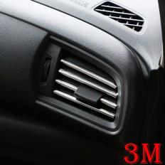 Banda cromada protectora para bocas de el ar condicionado coche