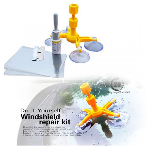 Auto Parabrezza Strumento di Riparazione Parabrezza Auto Kit Riparazione per Auto Vetro Parabrezza Crepa Chip Grattare Tagli Chip