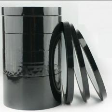 Nastro adesivo nero siliconico mascheratura in poliestere per alte temperature anti fiamma 66mt