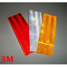 3M™ rectángulos reflectantes adhesivas reflectivas grado diamante 983 blanco, rojo o amarillo 3 piezas