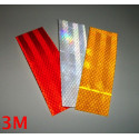3M™ Diamond Grade reflective adhesive reflective rectangles 983 white, red or yellow 3 pieces