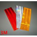 3M™ Diamond Grade reflektierende selbstklebende reflektierende Rechtecke 983 weiß, rot oder gelb 3 Stück