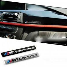 """ESCRITA logotipo del emblema ETIQUETA 3M - BMW """"M"""" efecto mate SATIN NEGRO / plata metalizado"""