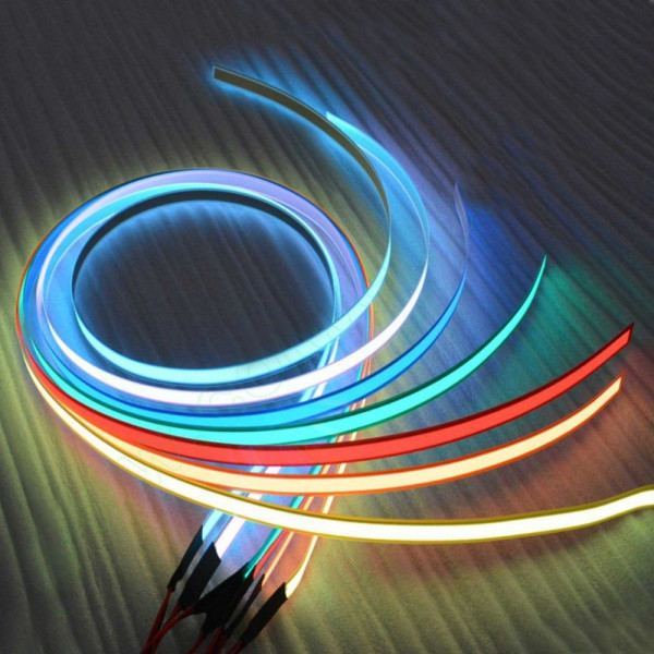 3m led string elektrolumineszenz schlauch neon f r die. Black Bedroom Furniture Sets. Home Design Ideas