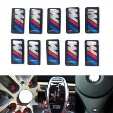 """10 Pezzi adesivi in resina 3D logo """"M"""" per cerchi BMW auto"""