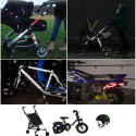 13 светоотражающие наклейки смешиваются, чтобы сделать видимыми коляски, велосипеды, мотоциклы, шлемы и многое другое