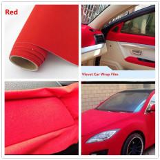 Nastro pellicola adesiva in velluto rosso wrapping per tuning e decorazione
