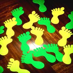 8x Piedini antiscivolo Fluorescenti per pavimento in 2 colori