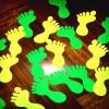 adhesivo antideslizante plazas 2 140mmx140mm con banda reflectante amarillo