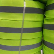 Reflektierendes Band Brechungs sewing kombiniert gelb / grau 30 / 50mm x 2MT