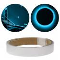 Adesiva luminescente fita fosforescente brilha na cor azul escuro
