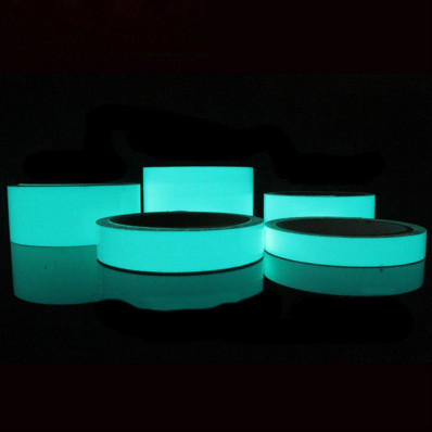 Photoluminescent aqua blue adhesive tape glow in the dark Shop