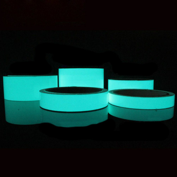 klebeband phosphoreszierende leucht leuchtet in der dunkelblauen farbe. Black Bedroom Furniture Sets. Home Design Ideas
