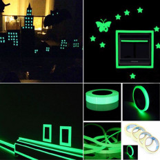 Fluorescent luminescent adhesive tape film that illuminates in the dark