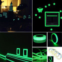 Fluorescent and luminous tape glow in the dark