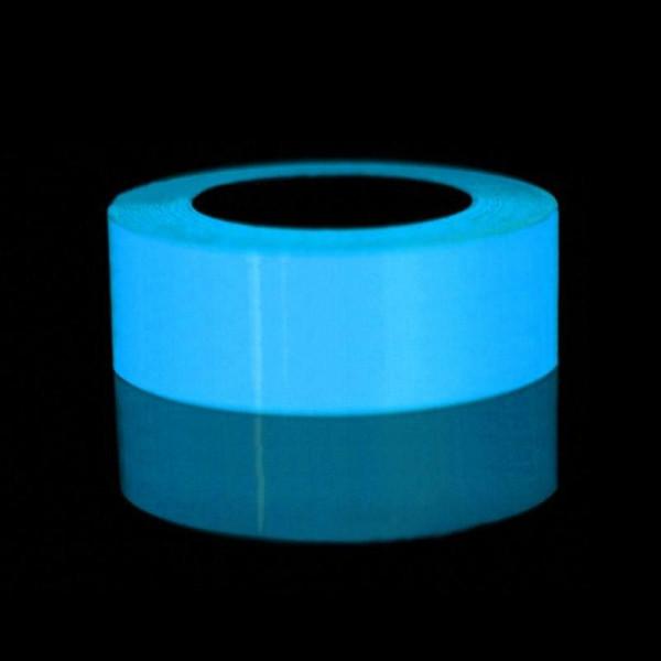 Nastro luminoso blu Nastro adesivo fluorescente autoadesivo Decorazione del palco del partito Nastro adesivo di sicurezza incandescente nottilucente