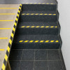 Black/Yellow hazard non-slip adhesive film strips for stairs and floors