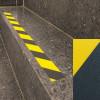 Striscie pellicole adesive antiscivolo segnalazione giallo/nero esterni pavimenti scale 50mm