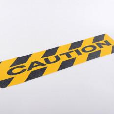 adhésif anti-dérapant carrés 2 140mmx140mm avec une rayure jaune réfléchissante