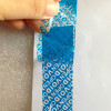 Nastro adesivo anti-manomissione colore blu che lascia scritta