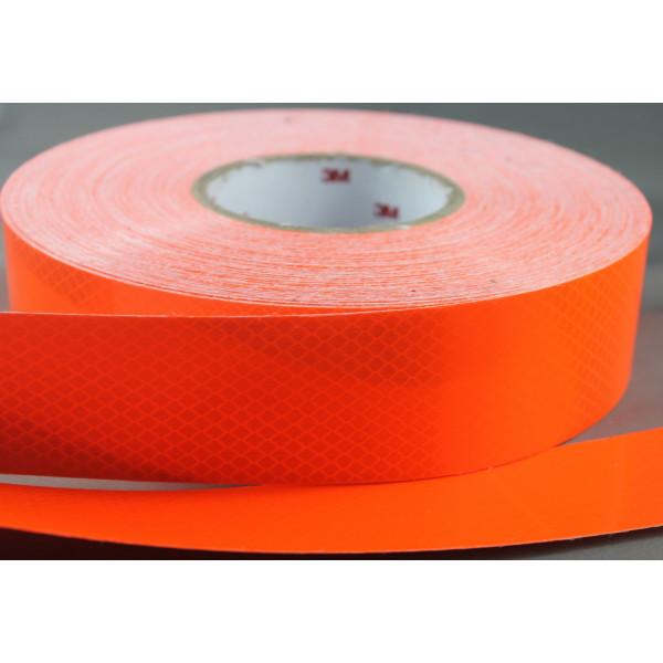 Nastro adesivo rifrangente arancio fluo per la bordatura - Pellicola per pavimenti ...