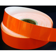 Cinta adhesiva reflectante naranja fluorescente para una