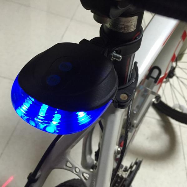 lampe arri re de v lo led bleu avec 2 laser vente en ligne